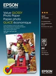 Epson Value Glossy Photo Paper A4 20 Kartek
