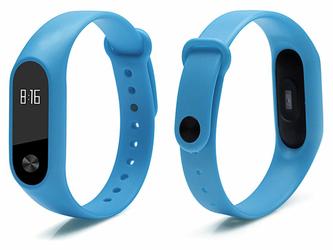 Opaska zamienna pasek guma do Xiaomi Mi Band 3 niebieska - Niebieski