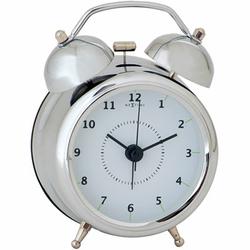 Budzik Wake up Nextime 23 cm, srebrny 5113 ZI