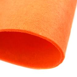 Dekoracyjny filc gładki 30x45 cm - pomarańczowy - POM
