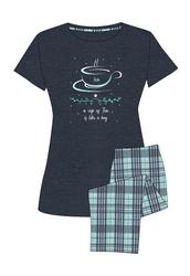 Piżama muzzy 9286-315 krr s-xl rozmiar: l, kolor: granatowy, muzzy