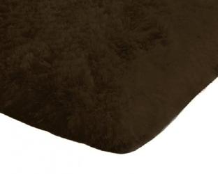 Dywan pluszowy mikrofibra wysoki shaggy 120x170 brązowy