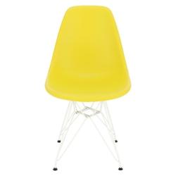 Krzesło p016 pp white dark olive - oliwkowy
