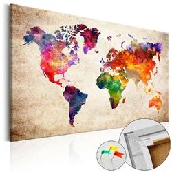 Obraz na korku - kolorowe uniwersum mapa korkowa