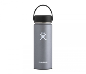 Kubek termos hydro flask wide mouth with flex cap 532 ml grafit vsco