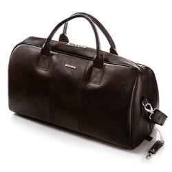 Skórzana torba podróżna brodrene cortez c10 ciemny brąz