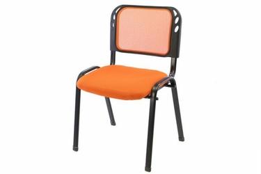 Krzesło biurowe, konferencyjne pomarańczowe