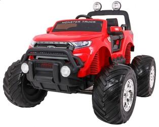 Ford ranger monster 4x4 czerwony duży samochód na akumulator + pilot
