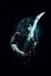 Janson becker gitarzysta - plakat premium wymiar do wyboru: 30x40 cm