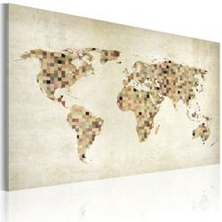 Obraz - świat w odcieniach beżu