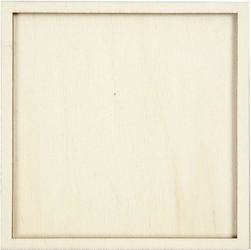 Ozdobna ramka kwadratowa z drewna 10x10 cm