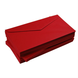 Koperta DL 120 g10 szt. - czerwony intensywny - czerwony
