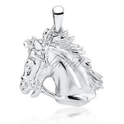 Srebrna zawieszka pr.925 koń  konik - rodowanie