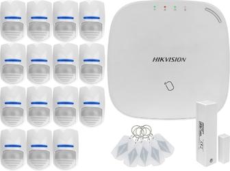 Za12676 bezprzewodowy system alarmowy gsm 4g 15 czujek ruchu hikvision ds-pwa32-nst
