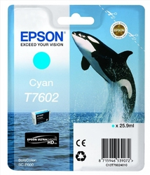 Epson t7602 ink cartridge cyan ultrachrome hd