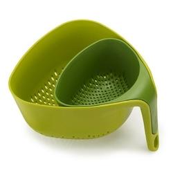 Joseph joseph - zestaw 2 durszlaków nest™ - zielony - zielony