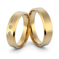Obrączki ślubne klasyczne płaskie fazowane 5 mm
