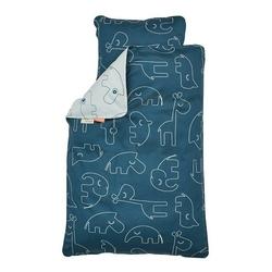 Pościel niemowlęca done by deer 100x70 + 45x40 - niebieska