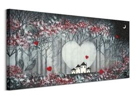Heart of the forest i - obraz na płótnie