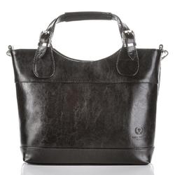 Skórzana torebka damska czarna paolo peruzzi ga309 - czarny