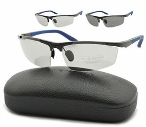 Sportowe okulary polaryzacja + fotochrom aluminiowe pol-352afp
