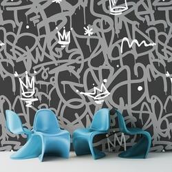 Dark graffiti - tapeta ścienna , rodzaj - tapeta flizelinowa