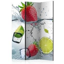 Parawan 3-częściowy - owocowy koktail room dividers