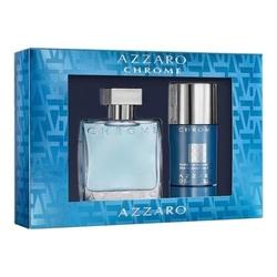Zestaw azzaro chrome perfumy męskie - woda toaletowa 50ml + dezodorant w sztyfcie 75ml
