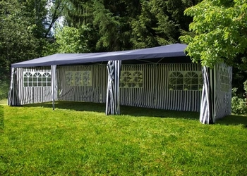 Duży pawilon ogrodowy 3x9m - w paski - namiot handlowy