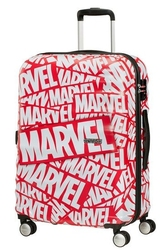 Walizka american tourister wavebreaker marvel spinner 67 cm - red