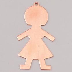 Metalowa zawieszka Efcolor - dziewczynka 50x27 mm - DZ50
