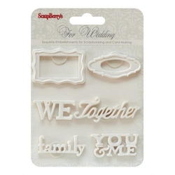 Polimerowe dekoracje z przylepcem - Wedding 2 - 1019