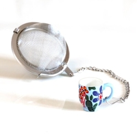 Metalowy zaparzacz filiżanka kulka - idealny do parzenia herbaty, ziół, wielokrotnego użytku