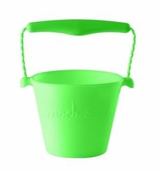 Wiaderko zwijalne silikonowe, zielony, Scrunch