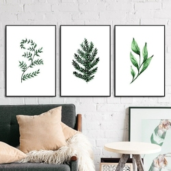Zestaw trzech plakatów - minimal herbs , wymiary - 70cm x 100cm 3 sztuki, kolor ramki - czarny