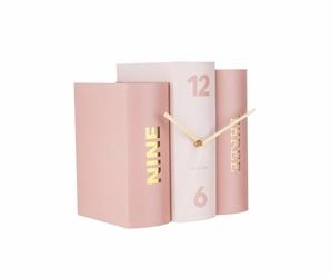 Karlsson :: Zegar Book różowy - różowy