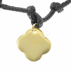 Srebrna zawieszka do bransoletki pr.925 złocona koniczynka do grawerowania