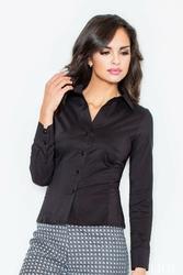 Czarna klasyczna koszula z długim rękawem