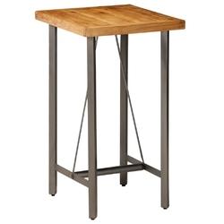 Vidaxl stolik barowy, lite drewno tekowe z odzysku, 60 x 60 x 107 cm