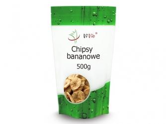 Chipsy bananowe 500g vivio