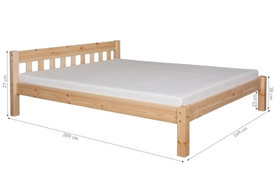 Łóżko drewniane zesco 160x200 wiele kolorów
