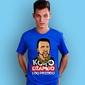 Koko dżambo i do przodu t-shirt męski niebieski xl