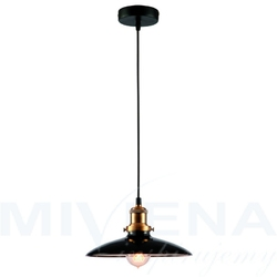 Rustic lampa wisząca 1 metal czarna