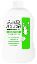 Biały jeleń hipoalergiczny, mydło w płynie, zapas  500ml