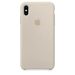 Apple Etui silikonowe iPhone XS Max - piaskowiec