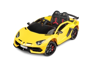 Sportowe lamborghini aventador żółty na akumulator