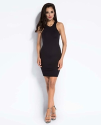 Czarna Mini Sukienka Bodycon