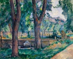 The pool at jas de bouffan, paul cézanne - plakat