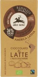 Alce nero | czekolada mleczna z orzechami 100g | organic - fairtrade