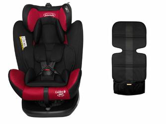 BabySafe Golden 360 Czerwony Fotelik obrotowy 0-36kg + Daszek
